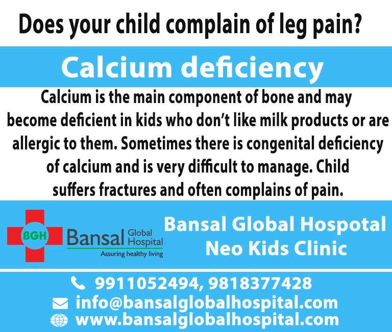 Bansal Global Hospital Calcium deficiency