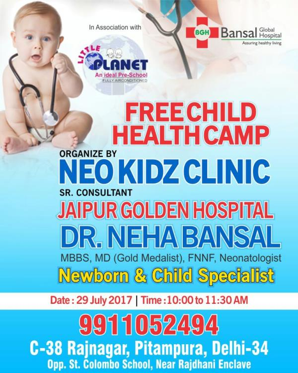 Free child health camp
